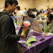 Students at Paint Night