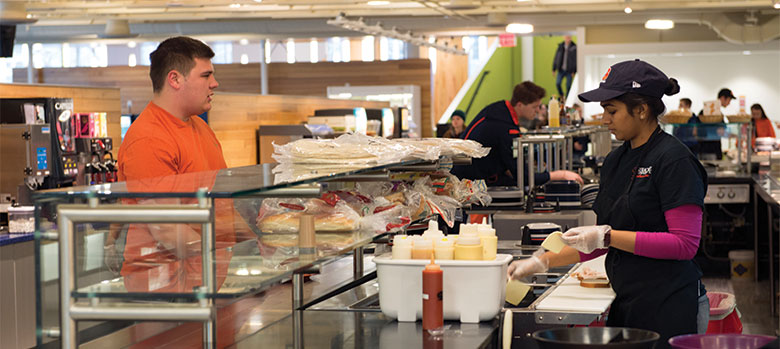 ernie davis dining hall hours