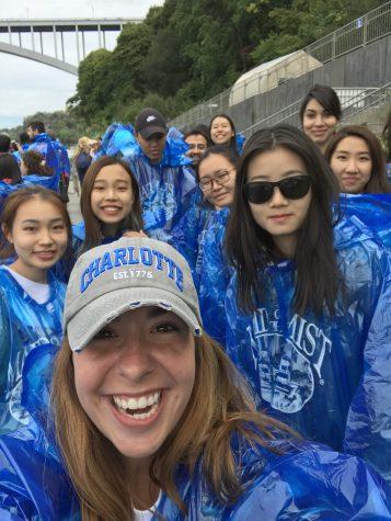 Christina with Students at Niagara Falls