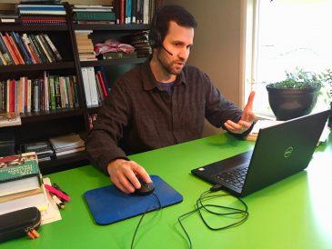 ELI instructor teaching online
